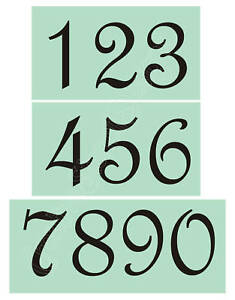 Stencil French Script 4 034 Numbers Country Shabby Primitive House