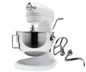 Kitchenaid Blender White kitchenaid rkg25h0xwh hd (heavy duty) stand mixer white large big