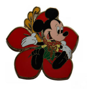 Disney Dcl Mickey Mouse Flower Pin Lei Gift Pin Ebay