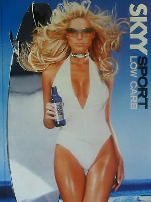 2004 Print Ad Skyy Vodka ~ Sexy Blonde Surfer Girl White Swimsuit