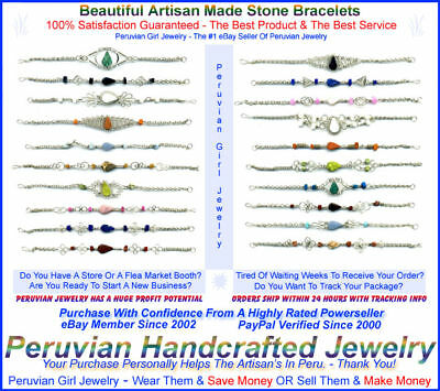 Natural Stone Wholesale Jewelry 20 Bracelets Peruvian