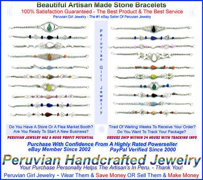 Natural Stone Wholesale Jewelry 20 Bracelets Peruvian