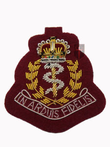 New-Official-RAMC-PARA-Maroon-Officers-Cap-Badge