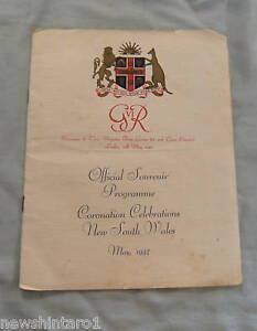 #T4. SOUVENIR PROGRAM - 1937 NSW GEORGE VI CORONATION CELEBRATIONS