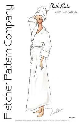 Bath Robe Doll Clothes Sewing Pattern Tyler Fletcher Pattern Company Tonner