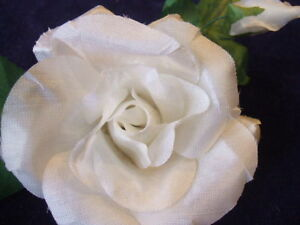 image is loading vintage millinery flower white rose boutonniere g39