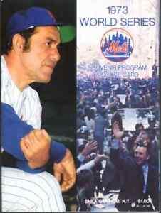 1973 Mets vs A's World Series Pgm - Mets Version