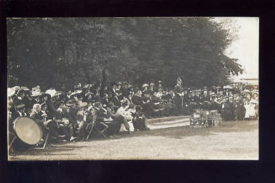 Lincs SKEGNESS Park Band Crowds RP PPC Early