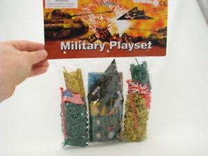 MINI-MICRO-ARMY-MEN-200-New-1-034-1-inch-7-8-034-1-72-scale-25mm-HO-OO-1-76-lot