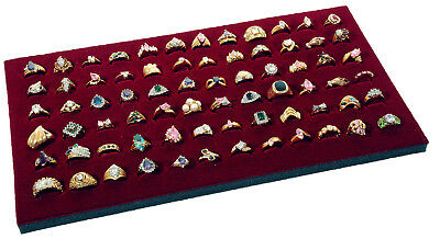 Burgundy 72 Slot Ring Foam Display Pad  Also Used With Case and Tray Displays