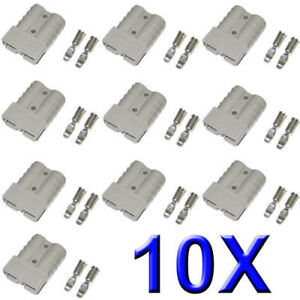 10 x ANDERSON 50 AMP PLUG CONNECTORS HD Springs 10x from ABR
