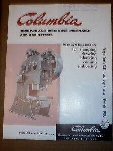 Vtg-Columbia-Machinery-amp-Engineering-Corp-Catalog-Presses