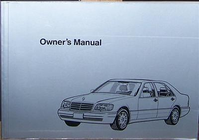 1995 Mercedes S350 Owners Manual Parts Service W140