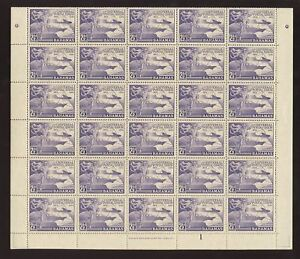 BAHAMAS 1949 UPU 2 1/2d COMPLETE MINT SHEET 60 stamps