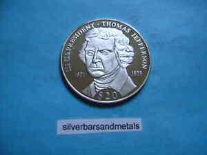 Thomas Jefferson President 999 Silver 20 Liberia Coin Ebay
