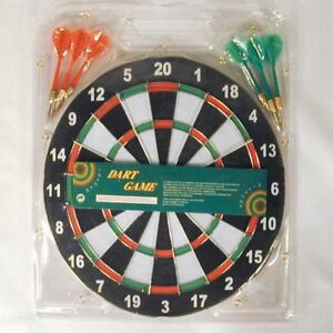 1-SET-REAL-DART-BOARD-W-DARTS-games-toys-boards-new-toy
