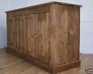OLD-RUSTIC-PINE-ANTIQUE-STYLE-4-DOOR-SIDEBOARD