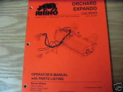 Rhino Expando Flail Mower Operators & Parts Manual