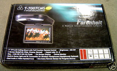Farenheit T7007cms 7 Tft-lcd Ceiling Mount Monitor