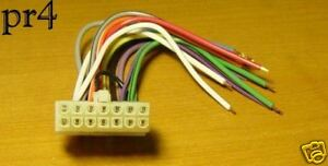pioneer wire wiring harness 14 pin deh 43dh 45dh p76dh. Black Bedroom Furniture Sets. Home Design Ideas