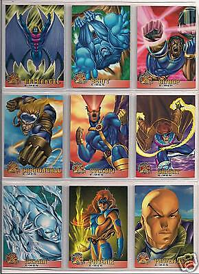MARVEL X-MEN TRADING CARDS FLEER 1996 100 CARD SET