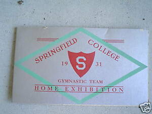 1931 Springfield College Gymnastic Team Booklet LOOK