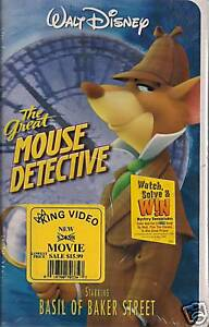DISNEYS-GREAT-MOUSE-DETECTIVE-1992-VHS-NEW