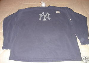 New-York-Yankees-Garment-Dye-Shirt-XL-Baseball-MLB-LS