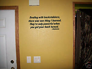Eminem quote backstabbers wall sticker vinly decal for Eminem wall mural