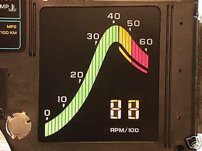 1984 84 Corvette Digital Dash Instrument Cluster Tachometer Tach Lcd Led