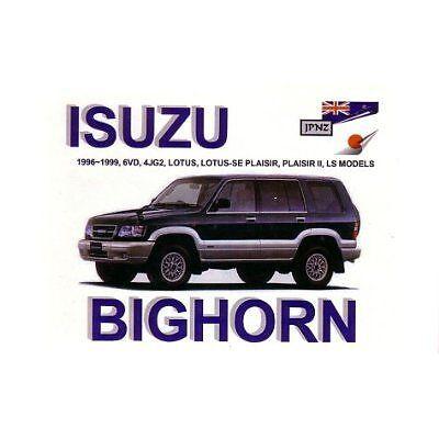 JPNZ Isuzu Trooper Bighorn 96-99 English Owner Handbook