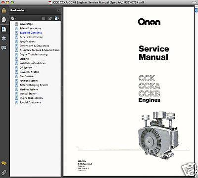 Onan P218g service manual Pdf