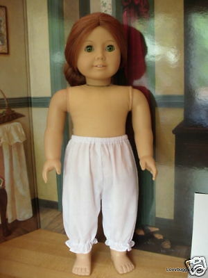 "Lovvbugg White Bloomers or Pantaloons for 18"" American Girl Doll Clothes"