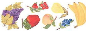 FRUIT WALL DECAL CREATIVE ART TRANSFERS DECOR TATOUAGE