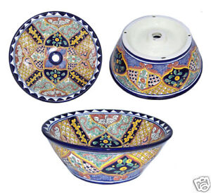 Vessel Talavera Mexican Bathroom Sink Ceramic 07 Ebay