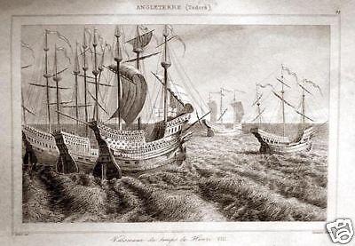 ROYAL NAVY SCHIFFE HEINRICH VIII TUDOR 1844 MARINE SCHIFFFAHRT NAVIGATION