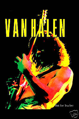 1980's Heavy Metal: Eddie Van Halen * Hot For Teacher * Promotional Poster 1984