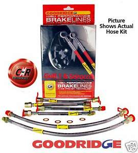 Scirocco-1-2-Goodridge-Braided-Brake-Hoses-R-Disc-G3-SVW0400-6P-6-Line-Kit-VW