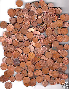 1 Kilo of 1 and 2  Cent Coins Mixed Dates