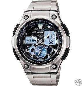 Casio-Analog-Digital-Combo-Watch-5-Alarms-100-Meter-WR-Low-Ship-AQ190WD-1AV