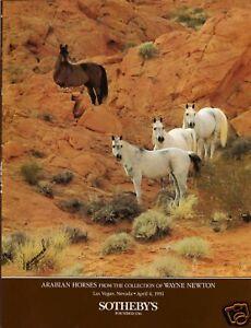 Rare sothebys arabian horses wayne newton collection