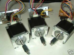3 x nema 23 stepper motors 3 control ics cnc mill lathe for 6 amp stepper motor driver