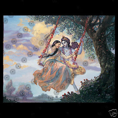 THE DIVINE LOVE SWING - HINDUISM - POSTER - NEW
