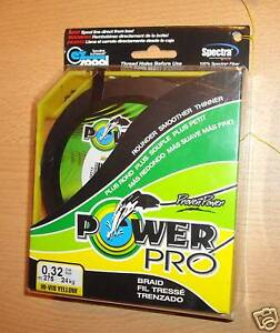 POWERPRO fishing braid  150yd 29lb YELLOW  POWER PRO - <span itemprop='availableAtOrFrom'>Bedford, United Kingdom</span> - Returns accepted Most purchases from business sellers are protected by the Consumer Contract Regulations 2013 which give you the right to cancel the purchase within 14 days after the day  - Bedford, United Kingdom