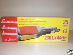 Conair Pro 2 1 2 Quot Ceramic Heat Iron 25 Heat Settings Ebay