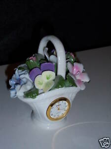 Vintage-Floral-Basket-with-a-timex-quartz-Unique