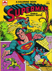 image is loading superman coloring book world without water nm 1980 - Superman Coloring Book