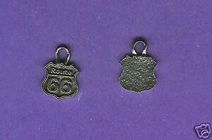 20 wholesale lead free pewter route 66 charms 1077