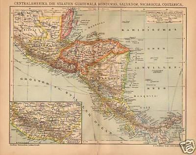"F.A.BROCKHAUS 1905  "" CENTAL AMERIKA "" GERMAN"