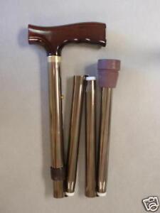 NEW-TFI-Folding-Adjustable-Cane-Walking-Stick-Bronze